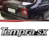 Emblema-Tampa-Porta-Malas-Tempra-Sx-1992-1993-1994-1995-1996-1997-1998-1999-Prata-Fundo-Preto
