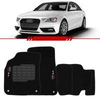 Tapete-Carpete-Preto-Audi-A4-2009-2010-2011-2012-2013-2014-Logo-Bordado-2-Lados-Dianteiro
