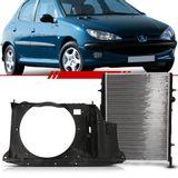 Combo-Peugeot-206-2001-2002-2003-2004-2005-2006-2007-2008-Radiador---Defletor-com-Ar