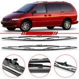Par-de-Palhetas-Standard-Dianteira-Chrysler-Jeep-Caravan-1996-1997-1998-1999-2000-Limpador-de-Parabrisa-Modelo-Rodo-26-Polegadas