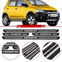 Jogo-Soleira-Resinada-de-Porta-Volkswagen-Personalizada-Crossfox-2005-2006-2007-2008-2009-2010-4-Pecas-Estreita-Preta
