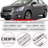 Jogo-Soleira-Resinada-de-Porta-Chevrolet-Personalizada-Cobalt-2011-2012-2013-2014-2015-2016-4-Pecas-Larga-Aco-Escovado