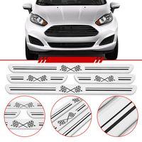 Jogo-Soleira-Resinada-Universal-Ford-4-Portas-Larga-Aco-Escovado-com-Bandeira-Quadriculada