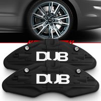 Par-Capa-Para-Pinca-de-Freio-Preto-Fosco-Universal-Audi-Sistema-Encaixe