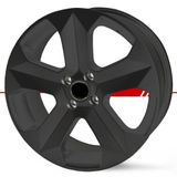 Jogo-de-Roda-Graphite-Fosco-Aro-18-Tala-7-Polegadas-Furacao-5x120-Off-Set-40