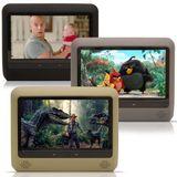 Dvd-Player-Tela-Para-Encosto-de-Cabeca-9-Polegadas-Lcd-com-Game-Usb-Sd-com-Transmissor-Fm-Touchcreen-Cinza