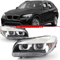 Par-Farol-Daylight-Bmw-X1-2010-2011-2012-2013-2014-2015-Mascara-Negra-Led