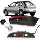 Combo-Gol-2006-2007-2008-2009-2010-2011-2012-2013-2014-Parachoque-Traseiro---4-Sensores-de-Estacionamento-Preto-com-Display