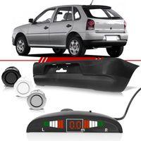 Combo-Gol-2006-2007-2008-2009-2010-2011-2012-2013-2014-Parachoque-Traseiro---4-Sensores-de-Estacionamento-Prata-com-Display
