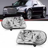 Farol Chrysler 300c 2005 2006 2007 2008 2009 com Plug Para Xenon sem Luz de Estacionamento