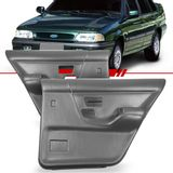 Par-Forro-de-Porta-Traseira-Cinza-Versailles-1991-1992-1993-1994-1995-1996-1997-1998-sem-Porta-Objeto-Vidro-Eletrico-e-Manual