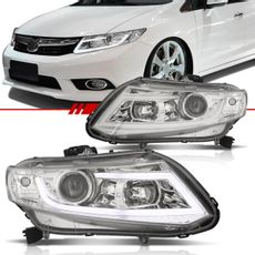 Par-Farol-Daylight-Civic-2012-2013-2014-2015-2016-Cromado-Foco-Duplo-com-Angel-Eyes-Led-