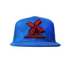 Bone-Giulianno-Fiori-Ralph-Blue-Personalizado-Logo-Moinho-Preto-Strapback-Adulto-Aba-Reta
