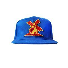 Bone-Giulianno-Fiori-Ralph-Blue-Personalizado-Logo-Moinho-Amarelo-Strapback-Adulto-Aba-Reta