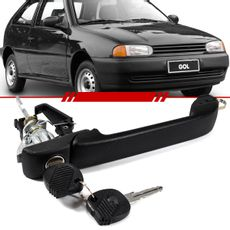 Macaneta-Externa-da-Porta-com-Chave-Gol-2-Portas-1999-2000-2001-2002-2003-2004-2005-Parati-Preta-com-Suporte-Para-Micro-Switch