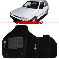 Tapete-Carpete-Personalizado-Preto-Uno-1985-a-2007-Logo-Fiat-Azul-Bordado-2-Lados-Dianteiro