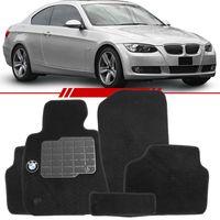 Tapete-Carpete-Personalizado-Preto-BMW-325-2005-2006-2007-2008-2009-2010-2011-2012-Logo-Bordado-2-Lados-Dianteiro