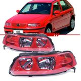 Farol-Volkswagen-Gol-Parati-Saveiro-G3-1999-2000-2001-2002-2003-2004-2005-Mascara-Vermelho-Coral