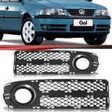 Moldura-Grade-do-Milha-Volkswagen-Gol-Parati-Saveiro-2003-2004-2005-Fase-2-com-Furo
