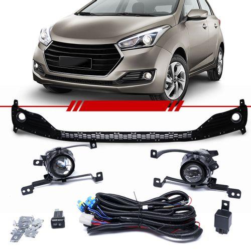 Kit-Farol-de-Milha-Auxiliar-Hyundai-Hb20-2016-2017-com-Grade-Inferior-do-Parachoque-Botao-Modelo-Original