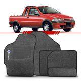 Tapete-Carpete-Personalizado-Grafite-Strada-1999-2000-2001-2002-2003-2004-2005-2006-2007-Logo-Fiat-Azul-Bordado-2-Lados-Dianteiro-Cabine-Dupla