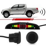 Sensor-de-Estacionamento-4-Pontos-Preto-com-Capsula-Emborrachada-Display-Led-Sinal-Sonoro