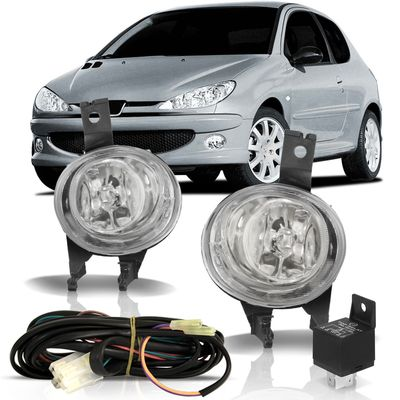 Kit-Farol-de-Milha-Auxiliar-Peugeot-206-2003-2004-2005-2006-2007-2008-2009-2010-Sw-Bocao-Botao-Modelo-Universal