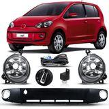 Kit-Farol-De-Milha-Auxiliar-Volkswagen-Up-2014-2015-2016-2017-Botao-Modelo-Original-Com-Grade