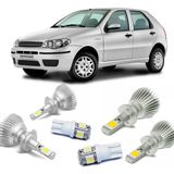 Kit-Lampadas-Super-Led-HeadLight-6000k-com-reator-Fiat-Palio-G3-04-05-06-07-08-09-10-11-12-13-14-Siena-Strada-com-Lampada-Pingo