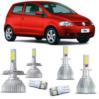 Kit-Lampadas-Super-Led-HeadLight-6000k-com-reator-Volkswagen-Fox-2003-2004-2005-2006-2007-com-Lampada-Pingo