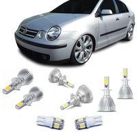 Kit-Lampadas-Super-Led-HeadLight-6000k-com-reator-Volkswagen-Polo-2003-2004-2005-2006-com-Lampada-Pingo