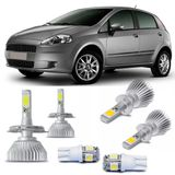 Kit-Lampadas-Super-Led-HeadLight-6000k-com-reator-Fiat-Punto-2008-2009-2010-2011-2012-com-Lampada-Pingo