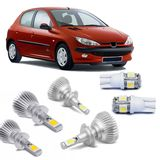 Kit-Lampadas-Super-Led-HeadLight-6000k-com-reator-Peugeot-206-1999-2000-2001-2002-2003-2004-2005-2006-2007-2008-2009-2010-com-Lampada-Pingo