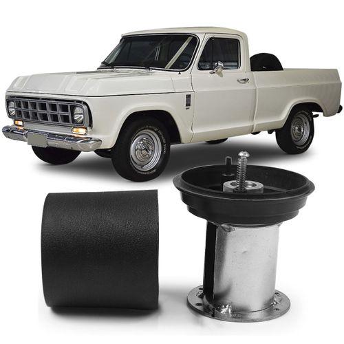 Cubo-Para-Volante-Pick-Up-A10-C10-1976-a-1996-D20-com-Capa-de-Plastico-Preta
