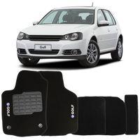 Tapete-Carpete-Golf-Preto-2008-2009-2010-2011-2012-2013-Logo-Bordado-Volkswagen-2-Lados-Dianteiro