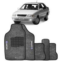 Tapete-Carpete-Santana-Grafite-1992-1993-1994-1995-1996-1997-1998-1999-2000-2001-2002-Logo-Bordado-Volkswagen-2-Lados-Dianteiro