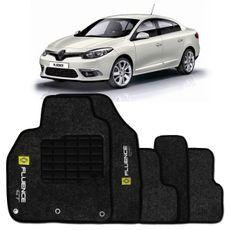 Tapete-Carpete-Personalizado-Preto-Fluence-Gt-2013-2014-Logo-Bordado-Renault-2-Lados-Dianteiro