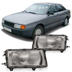 Farol-Audi-A80-1986-1987-1988-1989-1990-1991-Lente-Estriada