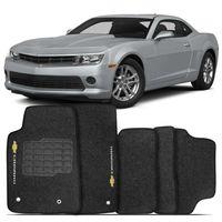 Tapete-Carpete-Chevrolet-Camaro-2010-2011-2012-2013-2014-Logo-Bordado-2-Lados-Dianteiro-Grafite