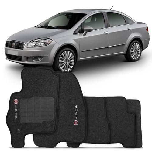 Tapete-Carpete-Linea-Grafite-2009-2010-2011-2012-Logo-Bordado-Fiat-2-Lados-Dianteiro