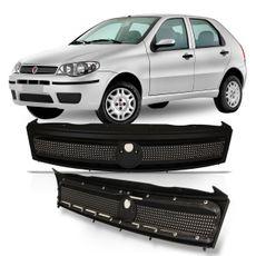 Grade-Dianteira-Fiat-Palio-G3-2004-2005-2006-2007-2008-2009-2010-Weekend-Siena-Strada-Cinza-Moldura-Preta