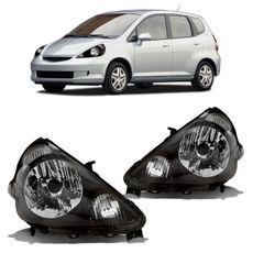 Farol-Honda-Fit-2003-2004-2005-2006-Mascara-Negra