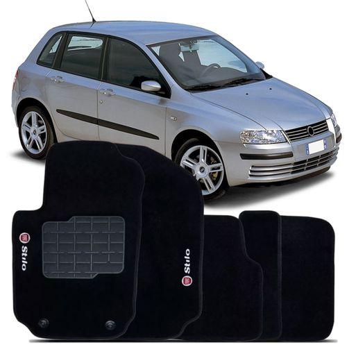 Tapete-Carpete-Personalizado-Preto-Stilo-2003-2004-2005-2006-2007-2008-2009-2010-2011-Logo-Fiat-Bordado-2-Lados-Dianteiro