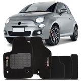 Tapete-Carpete-Preto-Fiat-500-2010-2011-2012-2013-2014-Logo-Bordado-2-Lados-Dianteiro