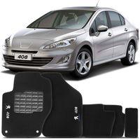 Tapete-Carpete-408-Preto-2011-2012-2013-2014-Logo-Bordado-Peugeot-2-Lados-Dianteiro