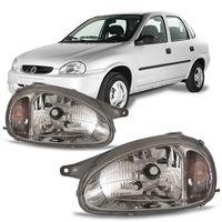 Farol-Corsa-Pick-up-Corsa-1994-1995-1996-1997-1998-1999-2000-2001-2002-Classic-2003-2004-2005-2006-2007-2008-2009-2010-Carcaca-Cinza