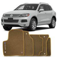Tapete-Carpete-Volkswagen-Touareg-2004-2005-2006-2007-2008-2009-2010-Logo-Bordado-2-Lados-Dianteiro-Bege