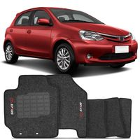 Tapete-Carpete-Etios-Hatch-Grafite-2012-2013-2014-2015-2016-Logo-Bordado-Toyota-2-Lados-Dianteiro