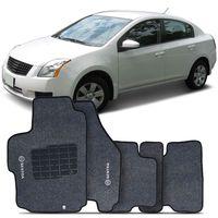 Tapete-Carpete-Sentra-Grafite-2007-2008-2009-2010-2011-2012-Logo-Bordado-Nissan-2-Lados-Dianteiro