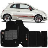 Tapete-Carpete-Fiat-500-Abarth-Preto-2010-2011-2012-2013-2014-Verificar-Logo-Bordado-Fiat-2-Lados-Dianteiro